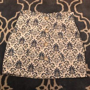 Topshop Brocade Button Skirt